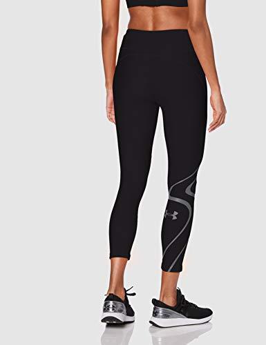 Under Armour UA HG Armour Shine Graphic Ankle Crop Pantalones Deportivos Para Mujer, Mallas Deportivas Mujer Negro SM