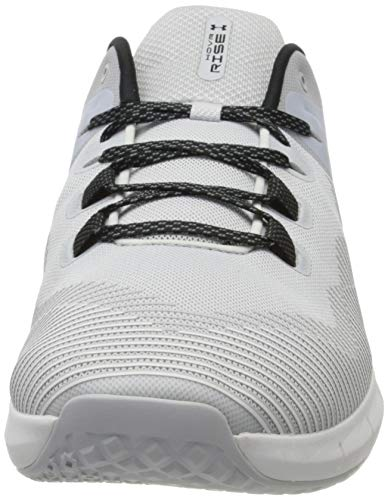 Under Armour UA HOVR Rise, Zapatillas Deportivas para Interior para Hombre, Gris (Halo Gray/White/Black), 44 EU