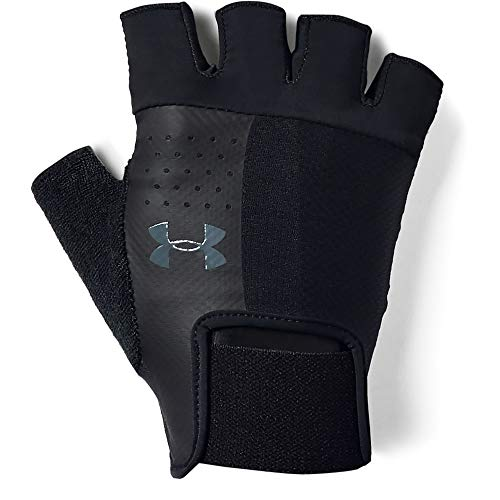 Under Armour UA Men's Training Glove Hombre, Guantes sin Dedos, Negro (Black/Pitch Gray 001), M