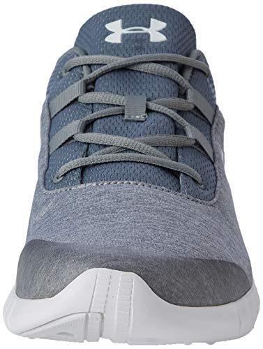 Under Armour UA Mojo, Zapatillas de Running para Hombre, Gris Steel White 101, 40 EU