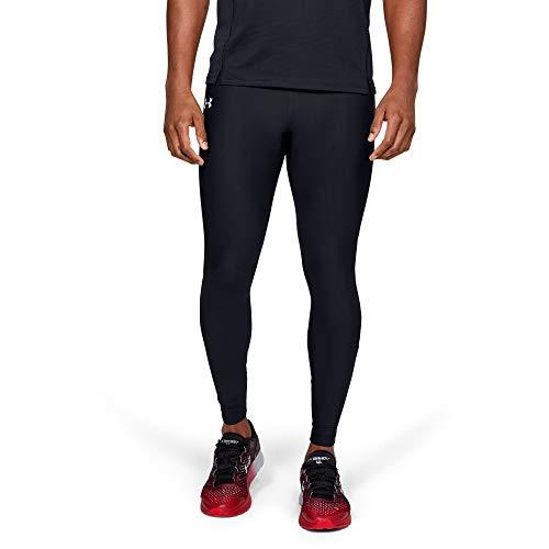 Under Armour UA Qualifier Heatgear Tight Leggings, Hombre, Negro (Black/Black/Reflective 001), L