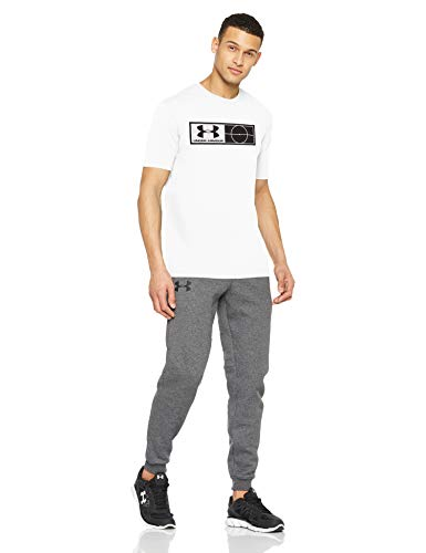 Under Armour UA Tag tee Camiseta de Manga Corta, Hombre, Blanco (100), M