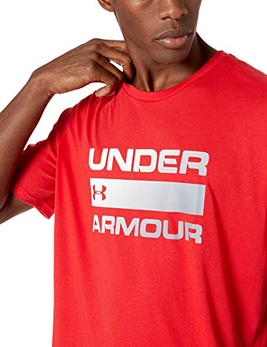 Under Armour UA Team Issue Wordmark Short Sleeve Camiseta, Hombre, Rojo (Red/Steel 600), XL