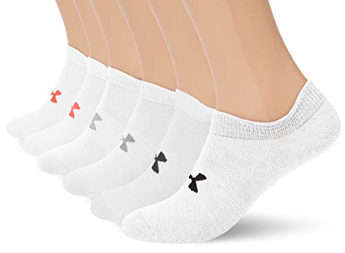 Under Armour Women's Essential NS Calcetines, Mujer, Blanco, SM