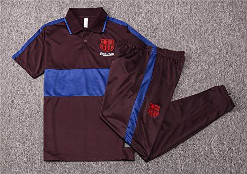Uniforme de Entrenamiento de fútbol Jersey de Hombre Uniforme de fútbol Uniforme de Equipo de Manga Corta 20-21 Club Equipo Ropa Deportiva Traje-Photo_Color_XXL