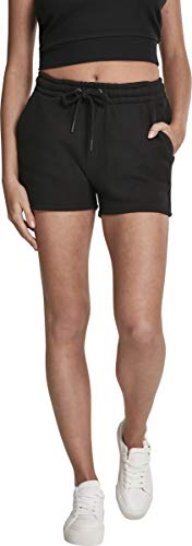 Urban Classics Ladies Heavy Pique Hot Pants Pantalones Cortos, Negro (Black 00007), 44 (Talla del Fabricante: X-Large) para Mujer