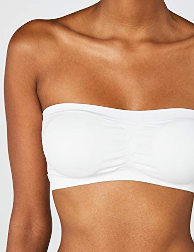 Urban Classics Ladies Pads Bandeau Top, Blanco, Tamaño del Fabricante: XS para Mujer