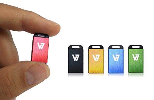 V7 VU28GCR-BLK-2E V7 Unidad de memoria flash USB 2.0 nano 8GB, negra
