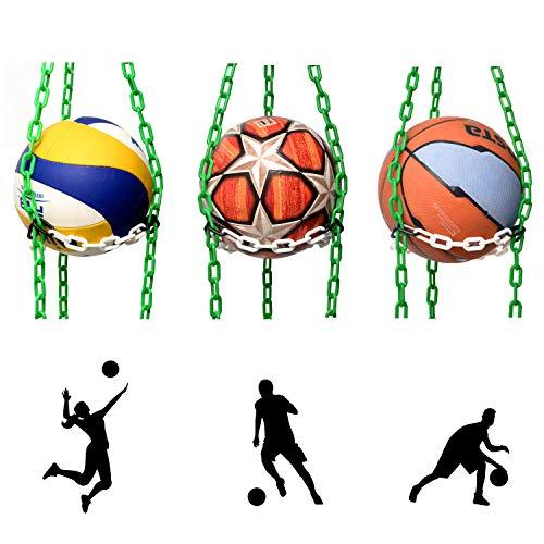 Vailantes™ Organizador Colgante Para Pelotas: De Fútbol, Voleibol y Baloncesto Original Organizador De Pelotas Para La Habitación De Los Niños o De Entrenamiento En Clubes Deportivos
