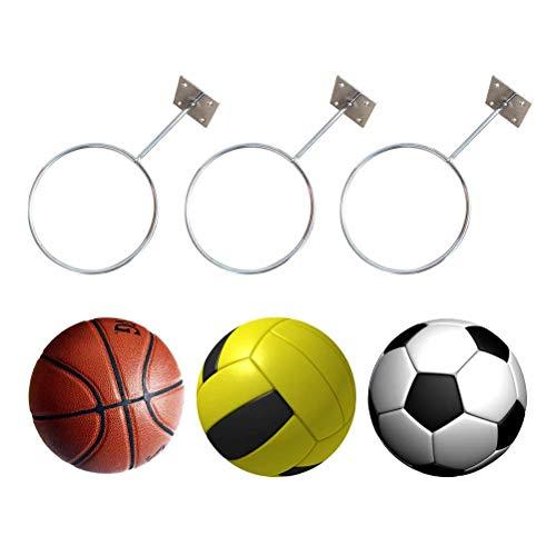 Vankcp Soporte de Pared para balones de Baloncesto, Voleibol, fútbol, balón Hueco, etc. Juego de 4 Soportes de Almacenamiento