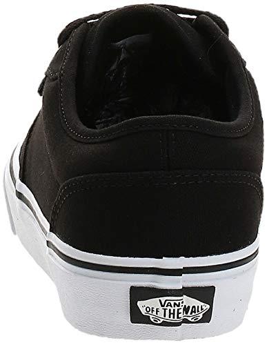Vans Atwood, Zapatillas para Hombre, Negro (Black/White Canvas 187), 43 EU