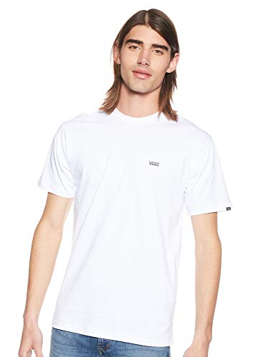 Vans Herren Left Chest Logo Tee T-Shirt, Weiß (White Black Yb), X-Large