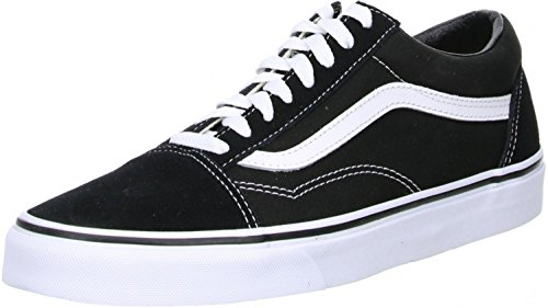 Vans Old Skool, Zapatillas Unisex Adulto, Negro (Black/White), 43