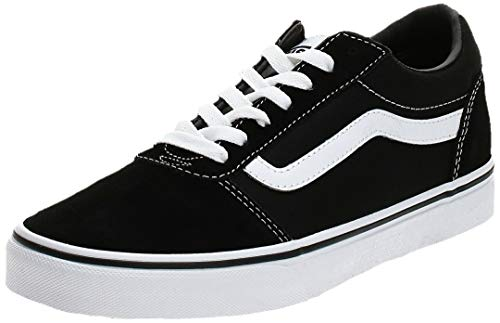 Vans Ward Canvas, Zapatillas Hombre, Negro ((Suede/Canvas) Black/White C4R), 38.5 EU