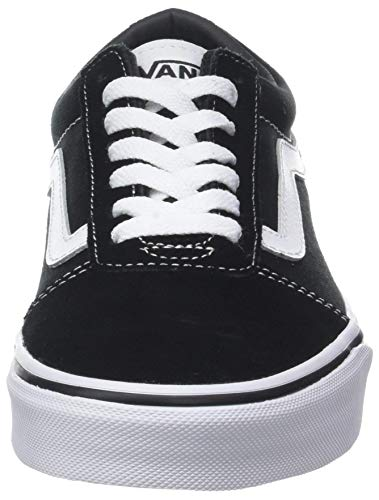 Vans Ward Canvas, Zapatillas Hombre, Negro ((Suede/Canvas) Black/White C4R), 42.5 EU