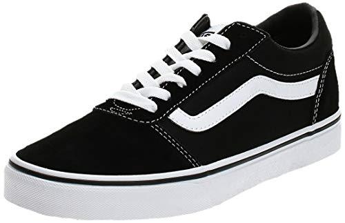 Vans Ward Canvas, Zapatillas Hombre, Negro ((Suede/Canvas) Black/White C4R), 44 EU