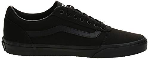 Vans Ward Canvas, Zapatillas para Hombre Negro (Canvas/Black 186) 43 EU