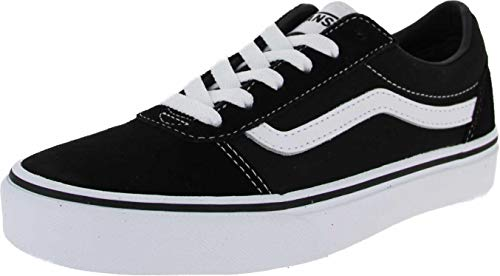 Vans Ward Suede/Canvas, Zapatillas Unisex Niños, Negro ((Suede/Canvas) Black/White Iju) 38 EU