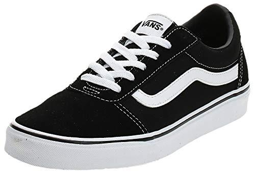 Vans Ward - Zapatillas para Mujer, Negro (Suede/Canvas/Black/White Iju), 37 EU