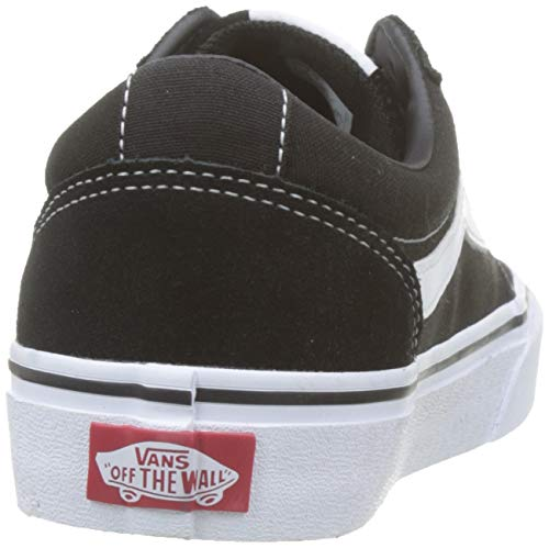 Vans Ward - Zapatillas para Mujer, Negro (Suede/Canvas/Black/White Iju), 38 EU