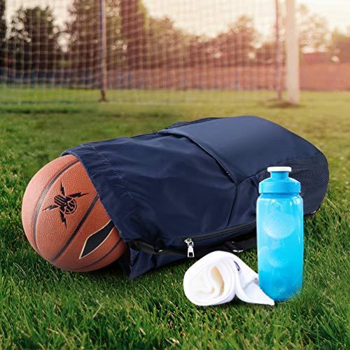 VBIGER Mochila de Cuerda Unisex Negro para Deporte Gimnasio Yoga Nadar (Azul)