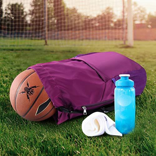 VBIGER Mochila de Cuerda Unisex Negro para Deporte Gimnasio Yoga Nadar (púrpura)