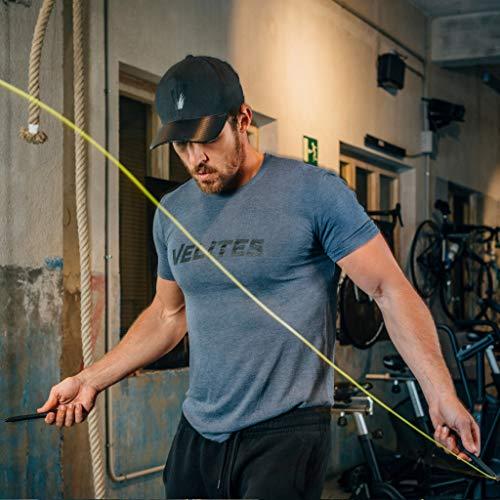Velites Cuerda de Saltar lastrada para Crossfit, Boxeo y Fitness Fire 2.0 Ideal para Saltos Dobles | Comba de Velocidad de Aluminio (Lastres no incluidos)