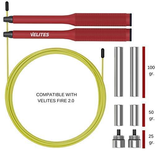 Velites Lastres para Cuerda de Saltar lastrada de Crossfit, Boxeo y Fitness Vropes Fire 2.0 25 gr,50 gr y 100 gr | Sólo Compatible con combas Vropes