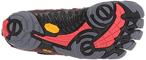 Vibram Fivefingers V-Train, Zapatillas de Deporte para Hombre, Gris (Grey/Black/Red Grey/Black/Red), 45 EU