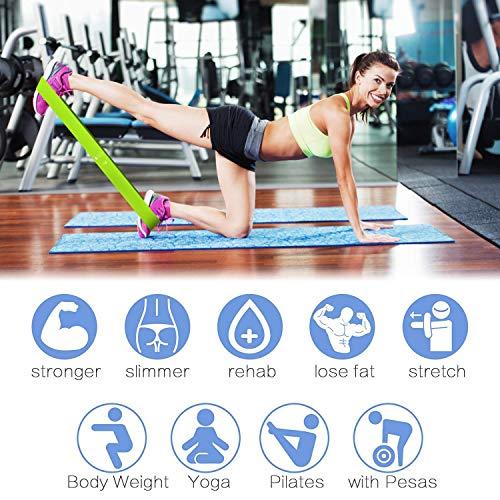 Victoper Rantizon Bandas Elásticas Fitness, Unisex Adulto, morada,rosada,azul,gris, Talla única