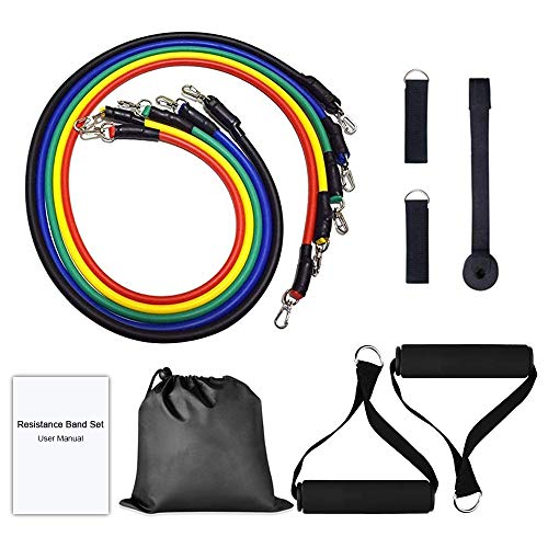 Victoper Resistance Bands Exercise Bands Set, Fitness Stretch Bands Resistance Set for Men/Women, with 5 Fitness Tubes, Door/Wall Anchor, Ankle Straps, Handles, Carry Bag and Workout Guides