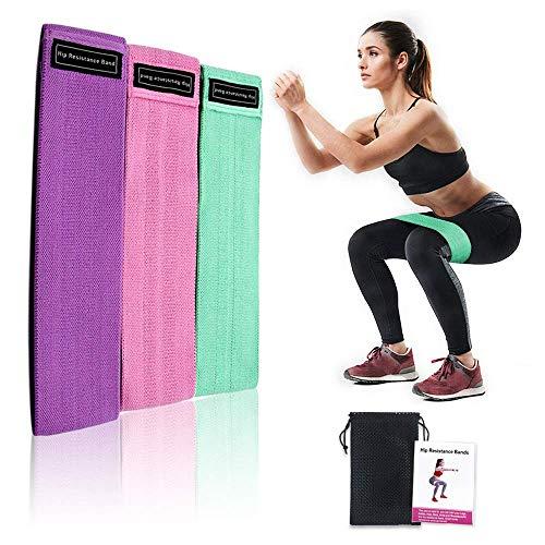 Victoper Set de 3 Bandas para Yoga/Crossfit/Entrenamiento de Fuerza/Pilates/Fisioterapia Fitness Elásticas de Resistencia con Guía de Ejercicios