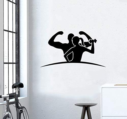 Vinilos deportivos 3d Adesivo per sala sportiva Body building Adesivi per palestra GYM Interior Gym
