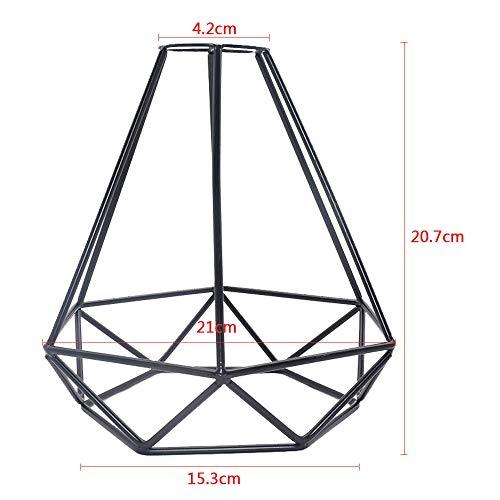 Vintage Diamond Cage Colgante Light Retro Industrial Metal Basket Cage Shade Geométrico Techo Colgante Light Shade Fitting para Loft Restaurante Cafetería
