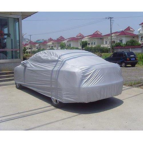 VISLONE Funda para Coche, Cubierta para Coche Impermeable a Prueba de Polvo Anti-UV Protector Solar Protección al Calor Anti-arañazos Sedán Tamaño Completo (4.9 * 1.8 * 1.5m)