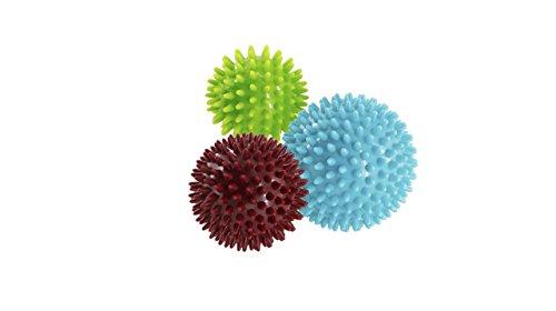 VLFit Pack de 3 Bola masajeadora con Pinchos Estrés para reflexología y Masaje Trigger Point, 6, 7 y 9 cm/Juego de 3 Pelotas masajeadoras con Pinchos