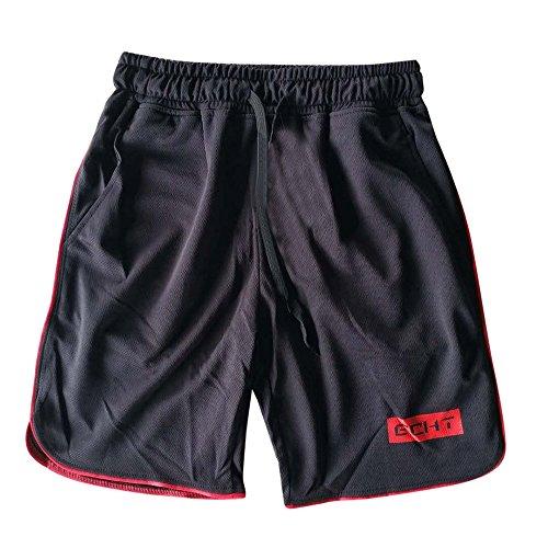 VPASS Pantalones para Hombre,Chándal de Hombres Color sólido Gym Deportivos Transpiración de Secado rápido Elásticos Pants Skinny Pantalones Jogging Fitness Slim Fit Corta Pantalones