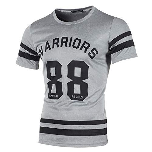 waotier 2019 Ropa De Hombre Camiseta De Manga Corta con Estampado De Letras para Hombre De Verano para Hombre