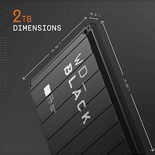 WD_BLACK 2TB P10 Game Drive for On-The-Go Access To Your Game Library - Works with Console or PC