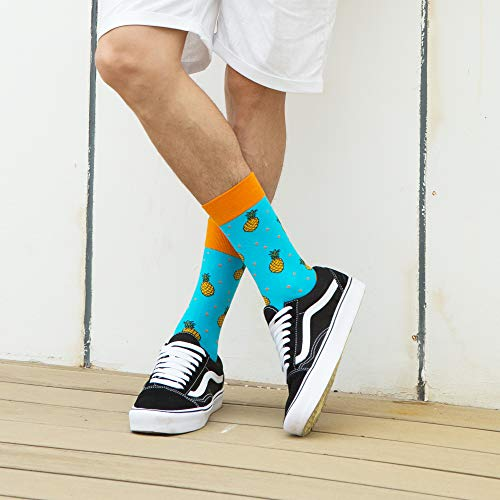WeciBor Calcetines Hasta La Hombre Estampados Hombres Ocasionales Calcetines Divertidos Impresos de Algodón de Pintura Famosa de Arte Calcetines Calcetines de Colores de moda… (ES062-46)
