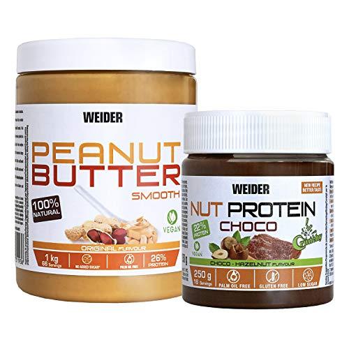 Weider Peanut Butter + Nut Protein Crunchy 100% natural. 100% vegano.