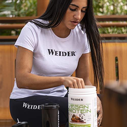 Weider Vegan Protein. Sabor Cappuccino. Proteína 100% vegetal de guisante (PISANE) y arroz. Sin gluten. Sin lactosa. Sin aceite de palma (750 g)