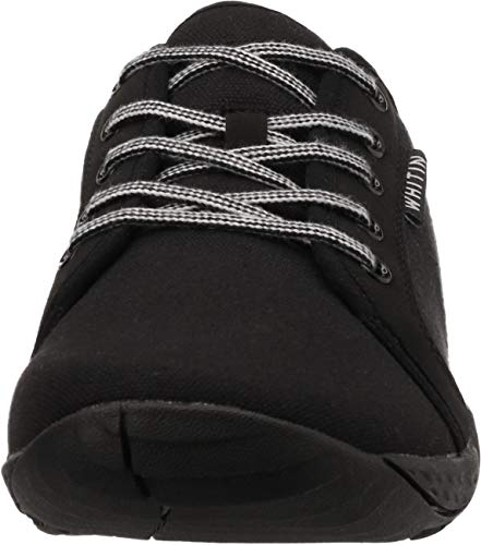 WHITIN Lona Zapatilla Minimalista de Barefoot Trail Running para Hombre Zapato Descalzo Correr Deportivas Fitness Gimnasio Calzado Asfalto Negro 44 EU