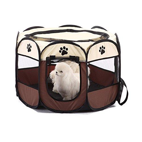 Wiiguda@Gran Parque para Animales para Dentro o afuera, Parque Mascota de Juego Entrenamiento Dormitorio, Parque para Cachorros recinto Parque para Animales Perros Gatos, tamaño M: 73X73X43cm.