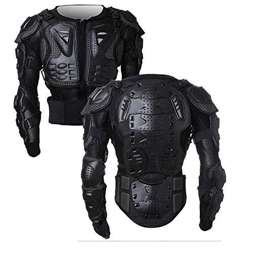 WILDKEN Chaqueta de Protección para Motocross Motos Ropa Protectora de Cuerpo Armadura Completo Profesional de Motocicleta Deportiva para Hombres Columna Vertebral Hombro Mujer Pecho (Negro, XL)