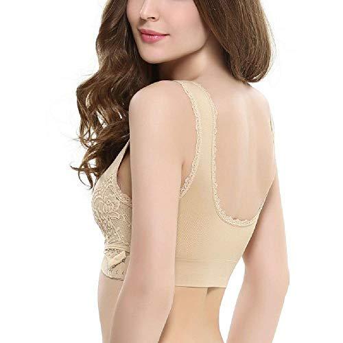 Women Fitness Sports Bra Padded Push Up Female Lace Crop Tops Gym Brassiere Vest Seamless Underwear