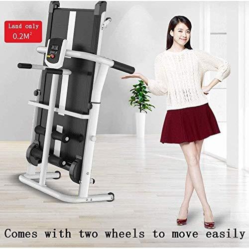 Woodtree Cinta de Correr Plegable absorción de Choque y la inclinación Equipo portátil de pequeño Gimnasio Multifuncional mecánico Caminar máquina, Color: Rosa (Color : Pink)