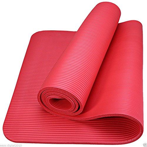 World Quality Esterilla de Yoga (15mm de Grosor Ejercicio Fitness Pilates Gimnasio Alfombrillas Antideslizantes
