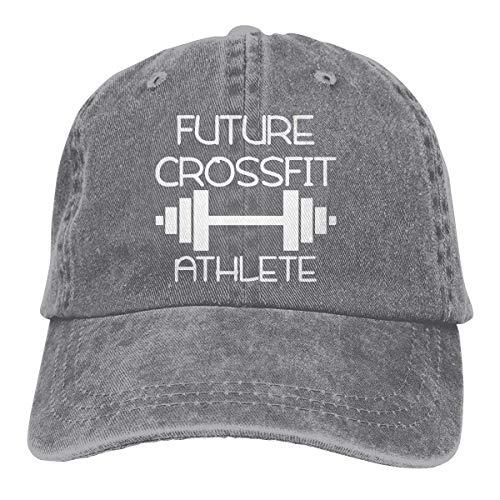 wwoman Gorra de béisbol de Mezclilla Ajustable para Hombres y Mujeres Future Crossfit Athlete Hiphop Cap