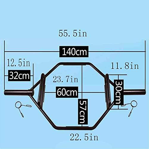 WXH Barra de Trampa Hexagonal Barra de Levantamiento de Pesas y Culturismo, Accesorios de Barra, Acero, Sentadillas, Peso Muerto, Encogimientos de Hombros y tirones de Fuerza